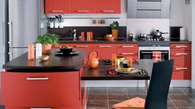 quelles couleurs choisir pour une cuisine quip e ma deco maisons. Black Bedroom Furniture Sets. Home Design Ideas