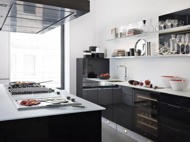 Quelles couleurs choisir pour une cuisine quip e ma - Deco cuisine blanc et noire ...