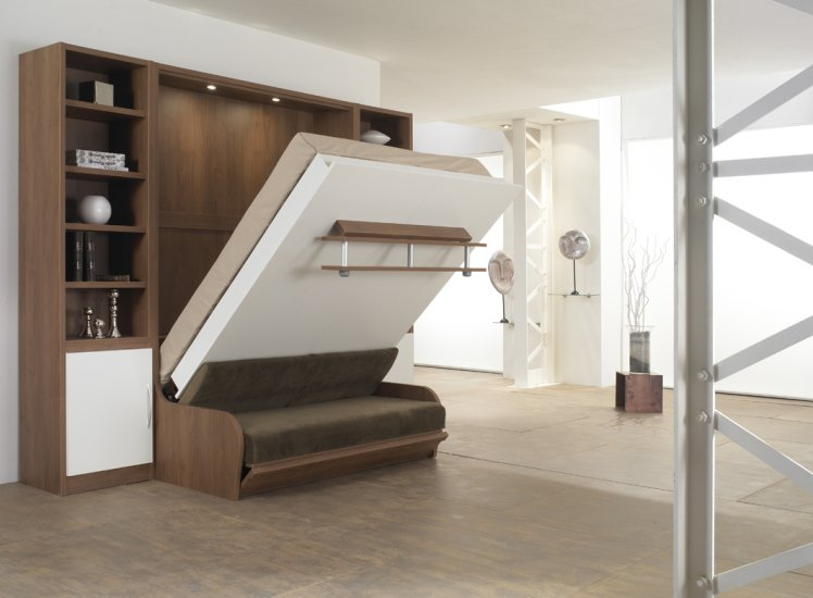 le lit escamotable gain d39espace et idee deco ma deco With idee deco cuisine avec lit escamotable