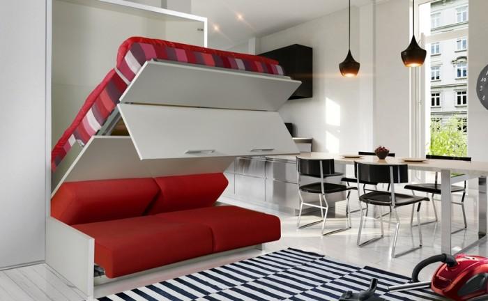Le lit escamotable gain d 39 espace et id e d co ma deco maisons - Installation lit escamotable ...