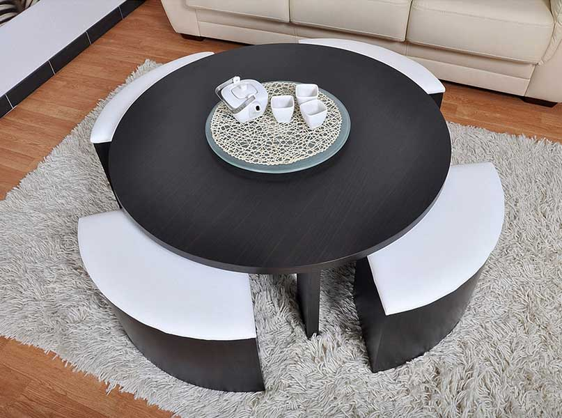 La table basse un atout pour son salon ma deco maisons for Table avec tabouret encastrable