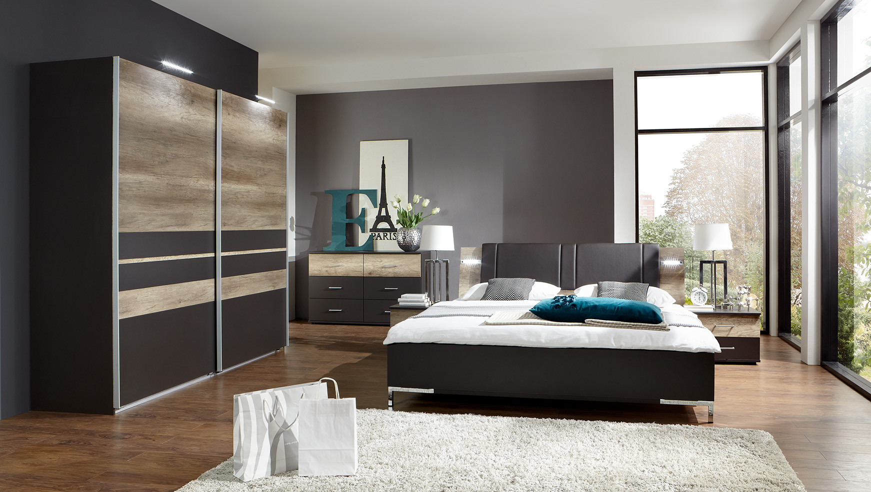 chambre a coucher deco maison design. Black Bedroom Furniture Sets. Home Design Ideas